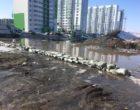 Тепленькая пошла барнаульцы обороняются паводка помощью баррикад мешков песком