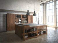 Преимущества мебели для кухни из массива дерева
